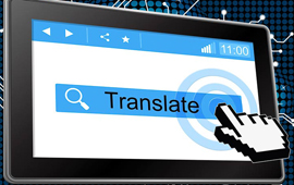 Graphic showing machine translation